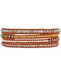 Chan Luu   32' Lab Mix/natural Brown Wrap Bracelet   Lyst