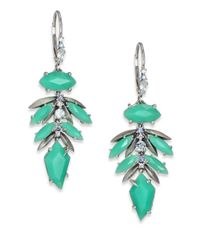 Alexis Bittar Fine - Green Mint Marquis Chrysoprase, Multicolor Sapphire & Sterling Silver Leaf Cluster Drop Earrings - Lyst