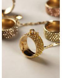 Eddie Borgo Metallic Five Finger Ring