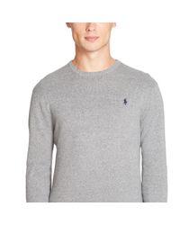 Polo Ralph Lauren Gray Pima Cotton Crewneck Sweater for men