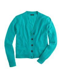J.Crew - Blue Collection Cashmere Vneck Cardigan - Lyst