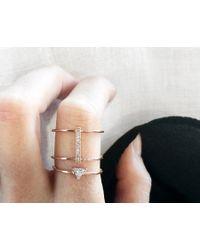 Vrai & Oro | Metallic Trillion Diamond Ring | Lyst