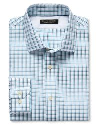 Banana Republic | Blue Classic-fit Non-iron Tonal Plaid Shirt for Men | Lyst