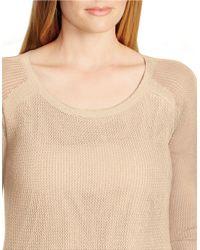 Lauren by Ralph Lauren Natural Plus Linen-cotton Mesh Sweater