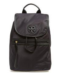Tory Burch Black Nylon Backpack