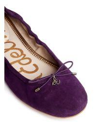 Sam Edelman - Purple 'felicia' Suede Ballerina Flats - Lyst