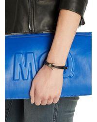 McQ - Mini Black Swallow Leather Wrap Bracelet - Lyst