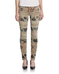 Current/Elliott - Natural The Ankle Skinny Jeans - Lyst