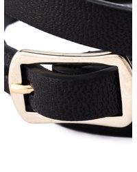 McQ | Black Swallow Triple Wrap Bracelet | Lyst