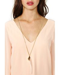 Nasty Gal - Green Jenny Bird Tusk Necklace - Lyst