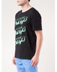 Maison Kitsuné Black Kitsune Club Night Tshirt for men