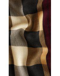 Burberry Multicolor Haymarket Check Cashmere Scarf