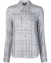PAIGE - Gray Checked Shirt - Lyst