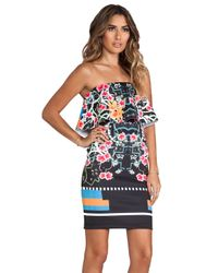 Clover Canyon - Cuba Scarf Dress in Black - Lyst
