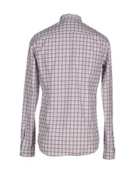 Aglini - Gray Shirt for Men - Lyst