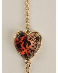 Marc By Marc Jacobs - Metallic Heart Sautoir Necklace - Lyst