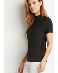 Forever 21 | Black Contemporary Mock-neck Top | Lyst