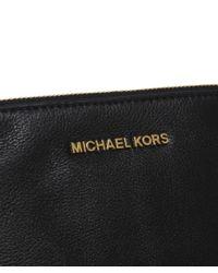 MICHAEL Michael Kors Black Rhea Large Pouch Clutch Bag