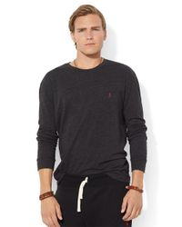 Polo Ralph Lauren Black Classic Fit Long Sleeved Jersey Pocket Crewneck for men