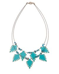 Sam Edelman | Blue Wild Child Stone Arrowhead Necklace for Men | Lyst