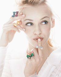 Mimi So - Metallic Bow Small 18K Gold Ruby Ring - Lyst