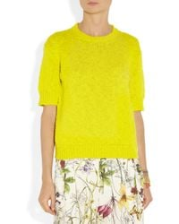 By Malene Birger Yellow Twin Cotton and Linenblend and Silksatin Sweater