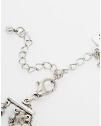 ASOS | Metallic Illusion Choker Multirow Necklace & Dreamcatcher | Lyst