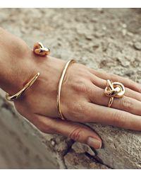 Rachael Ruddick | Metallic Hook And Knot Bangle | Lyst