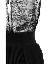 TOME - Black Lace And Pleated Tank Dress - Lyst