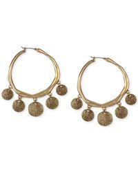 The Sak | Metallic Gold-tone Batik Drop Hoop Earrings | Lyst