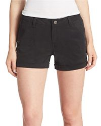 William Rast - Black Solid Shorts - Lyst