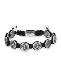 Nialaya | Gray Dorje Sterling Silver Beaded Bracelet for Men | Lyst