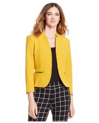 Nine West | Yellow Zip-pocket Jacket | Lyst