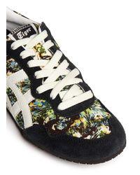 Onitsuka Tiger Multicolor 'Serrano' Rainforest Print Canvas Suede Sneakers