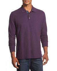 Robert Graham - Purple 'aherne' Long Sleeve Polo for Men - Lyst