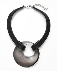 Lafayette 148 New York | Black Signature Circle Pendant Collar Necklace | Lyst