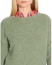 Lauren by Ralph Lauren | Green Seed-stitched Sweater | Lyst