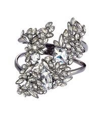 Alexis Bittar | Metallic Liquid Crystal Cluster Cuff Bracelet - Silver | Lyst