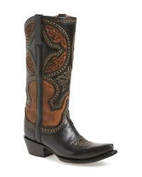 Lucchese - Black Sahara Desert Leather Boots - Lyst