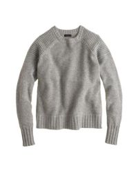 J.Crew Gray Collection Cashmere Double-stitch Sweater