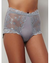 Free People Gray Dream Of Me High Waisted Undie