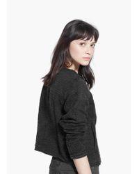 Mango Black Beaded Cotton Jacket