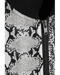 Equipment | Black Abbot Snakeprint Washedsilk Bomber Jacket | Lyst