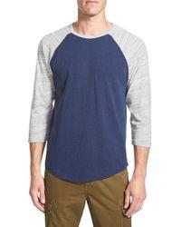 Lucky Brand Blue Baseball T-shirt for men