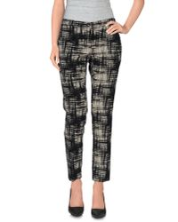 Erika Cavallini Semi Couture - Black Casual Pants - Lyst