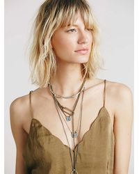 Free People - Green Scallop Edge Cami - Lyst