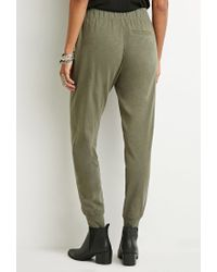 Forever 21 | Green Contrast-paneled Joggers | Lyst