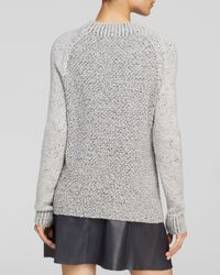 Vince - Gray Sweater Seed Stitch Crew - Lyst