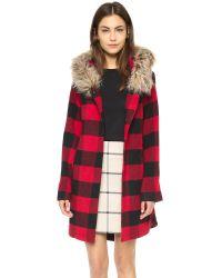 BB Dakota Jaslene Buffalo Plaid Coat - Red