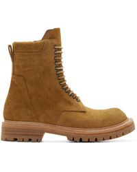 Rick Owens Yellow Suede Goodyear Flex Boots for men